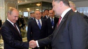 Vladimir POUTINE et Petro POROCHENKO à Minsk