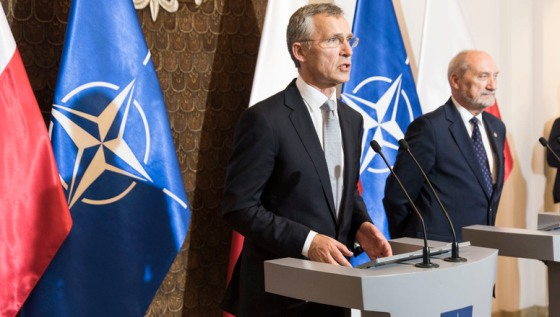 Joint press point with NATO Secretary General Jens Stoltenberg and the Minister of Defence of Poland, Antoni Macierewicz
